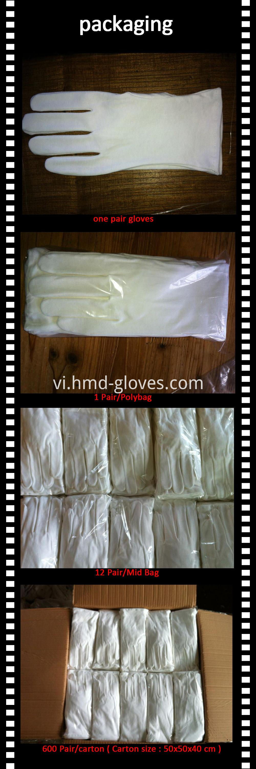 Cotton Gloves Package