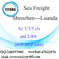 Shenzhen Port Sea Freight Shipping To Luanda