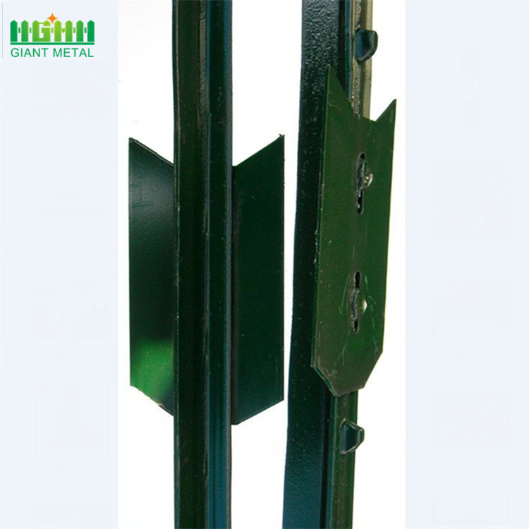 Galvanized steel fence posts