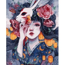 DIY Oil Painting By Numbers Flower Girl Cartoon Anime HandPainted Kits on Wall Canvas Pictures By Numbers Portrait Home Decor