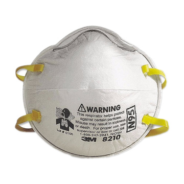 3M N95 8210 Dust mask Respirator Filter face mask, 8210, Disposable, Helps Protect Against Non-Oil Based Particulates