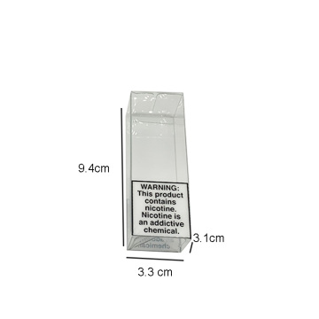 Transparent folding plastic clear gift box