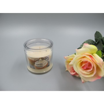 3 OZ Ivory colour Scented Glass Candles