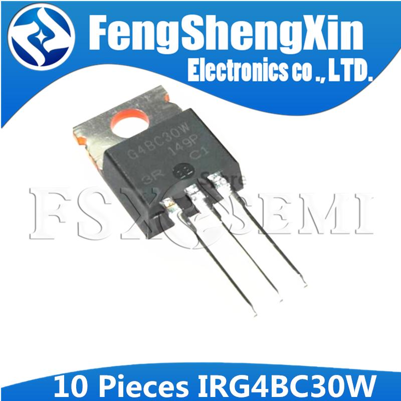 10pcs IRG4BC30W TO220 G4BC30W TO-220 IRG4BC30 4BC30 INSULATED GATE BIPOLAR TRANSISTOR