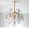 luxury hotel for hall cylindrical glass chandelier