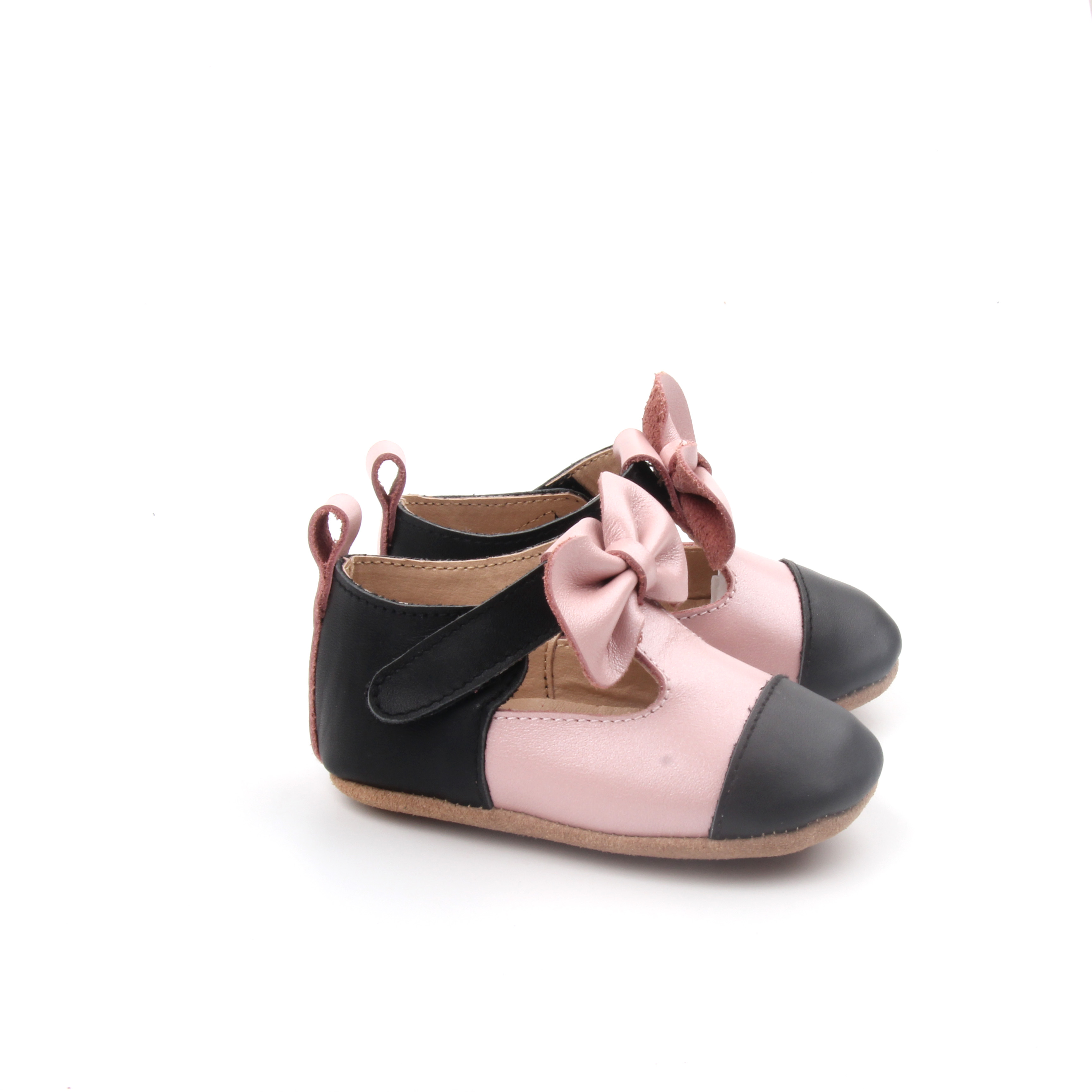 Baby Soft Leather T Bar Dress Shoes