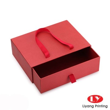 Custom drawer packaging box with paper bag