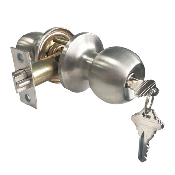 Round Ball Door Handle Knob Lock Set