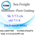 Shenzhen Port Sea Freight Shipping To Pasir Gudang