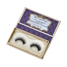 Custom Luxury Cardboard Eyelash Book Shape Paper Box