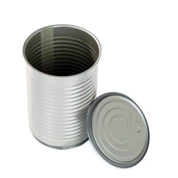 round tin cans for food