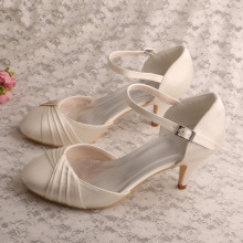 Comfortable Ladies Wedding Shoes Kitten Heel