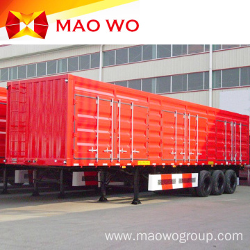 Best Brand Tri-axle Dry Van Curtain Semi Trailer
