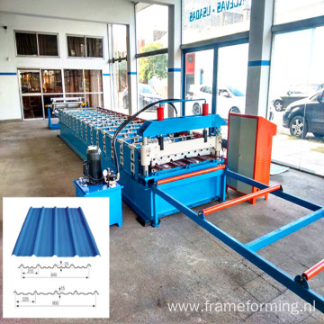 galvanized steel sheet roll forming machine