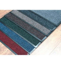 Commercial outdoor entrance stripe dust control floor mats