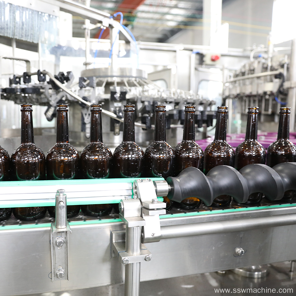 Washing Filling Capping Beer Packing Line
