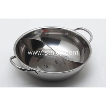 28-34cm Stainless Steel Hot Pot with Divider