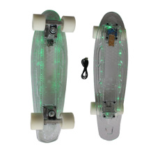 LED Lights PC Transparent Plastic Penny Skateboard