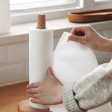 Cleaning Wipes Kitchen Cloth Roll Embossed Rag Dishcloth