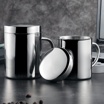 Wholesale Customized Silver Double Wall Insulated Mug