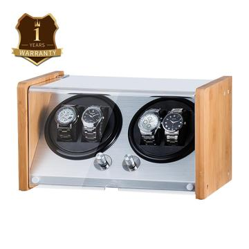 Bamboo Wood Two Rotations Watch winder