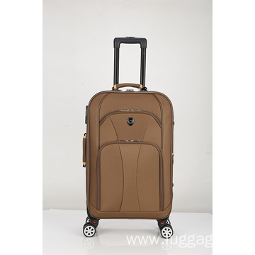 Front pocket spinner luggage