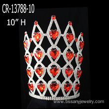 Red Rhinestone Heart Crowns For Valentine's Day