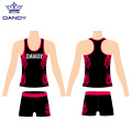 Custom sublimation cheer tank top and short