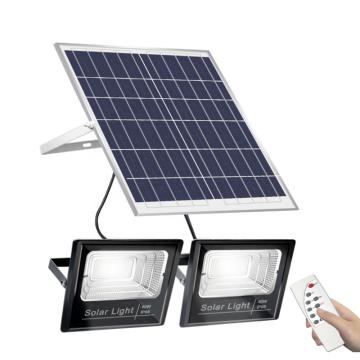 100w200w300w500w One solar Panel with Two solar FloodLights
