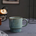 Set of 4 stackable Mugs with wire stand