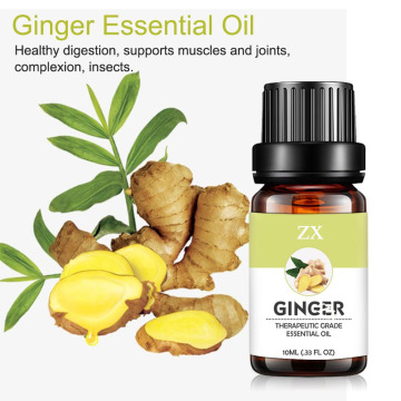 100% pure natural ginger massage essential oil