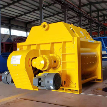 JS twin shaft compulsory concrete mixer