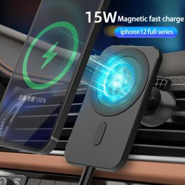 15W Magnetic Wireless Car Charger Stand For iPhone12 Pro Mini Phone Case Car vent Adsorbable Holder Fast Charging