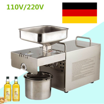 Automatic 110V/220V Cold/Heat Commercial Peanut Sunflower Oil Press Machine Coconut Almond Seeds Squeeze Oil Machine Extractor