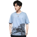 Mens Custom Printed Fashion Short-sleeved Cotton T-shirts