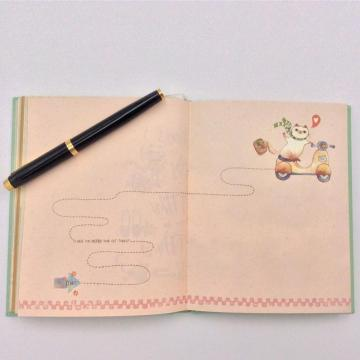 Paper plain notebook with color pages