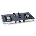 Toughened Black Glass Gas Stove Alloy Burners