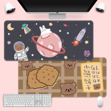 Super Cute Mouse Pad Creative INS Tide Large Game Computer Keyboard Office Long Table Mat Kawaii Desk for Teen Girls for Bedroom