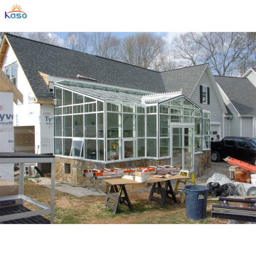 Villa Living Winter Sunrooms Triangle Roof Glass Room