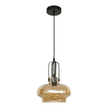 Glass pendant light with Amber color