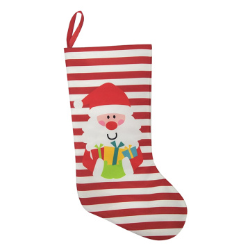 Printed christmas stocking with santa pattern