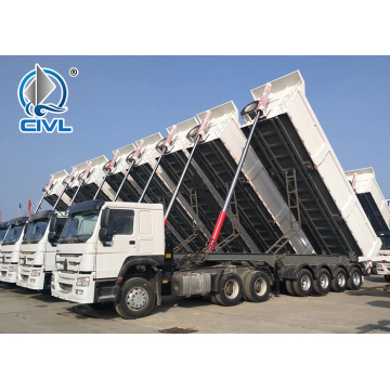 Multi-axle Dump Semi Trailer