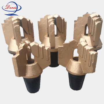 3 wing step drag drill bit for well