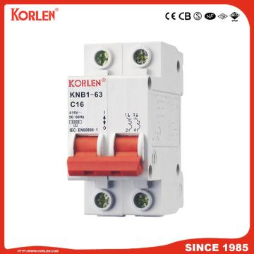 Miniature Circuit Breaker 3p 6ka connected with busbar