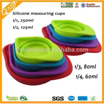 Practical Colorful Folding Novelty Silicone Measuring Cups