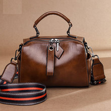 2020 Temperament Soft Leather Handbag Messenger Bag New Leather Women's Bag Fashion Oil Wax Pillow Bag Casual Shoulder Bag