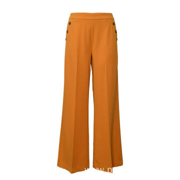 Ladies Scuba Crepe pants fack pockets wide legs