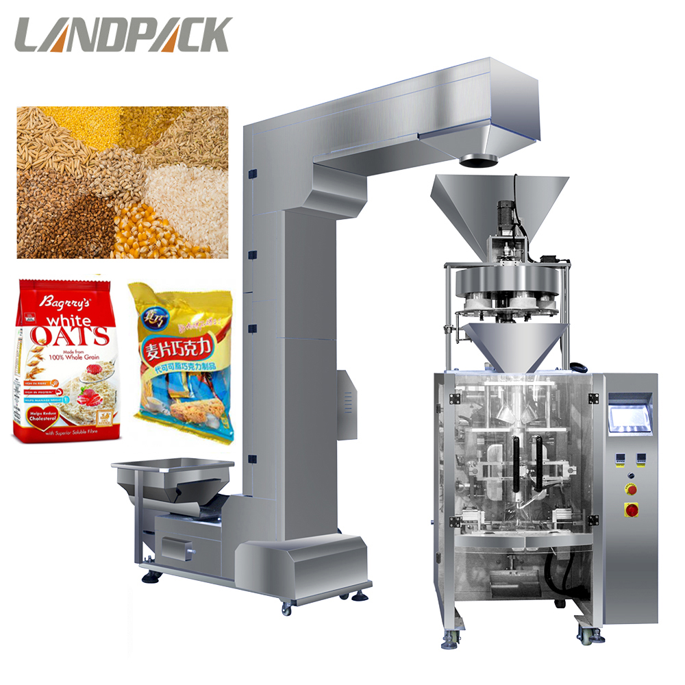 Cereal/oats/oatmeal granule 5 cups volumetric cup filler VFFS vertical packing package machinery