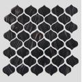 Black Gold Powder Pattern Bar Glass Mosaic Tile
