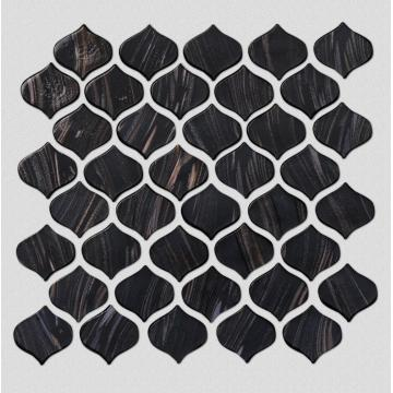 Black Glass Mosaic Tiles For Bars And KTV